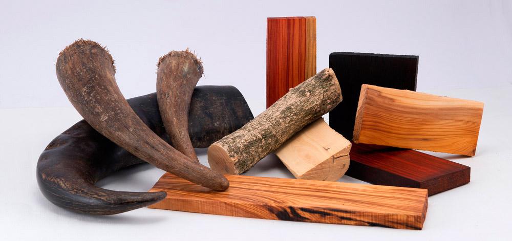 I materiali naturali usati per i manici